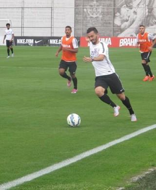 Uendel Corinthians treino (Foto: Diego Ribeiro)