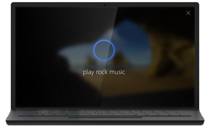 Assistente Cortana pode reproduzir músicas na tela de bloqueio do Windows 10 (Foto: Reprodução/Microsoft)