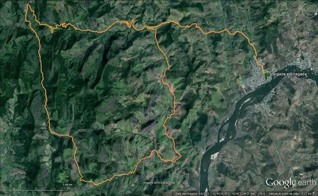 Mapa com o percurso da prova. (Foto: Reprodução)
