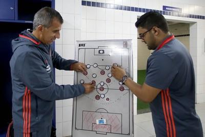 Gilmar Popoca arma o time que enfrentou e acabou eliminado pelo Corinthians (Foto: Staff Images/Flamengo)