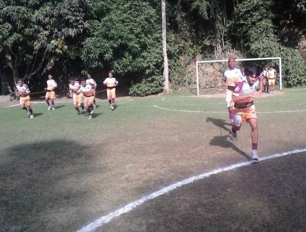 Pré-temporada da Desportiva Ferroviária, em Domingos Martins (Foto: Reprodução/Facebook)