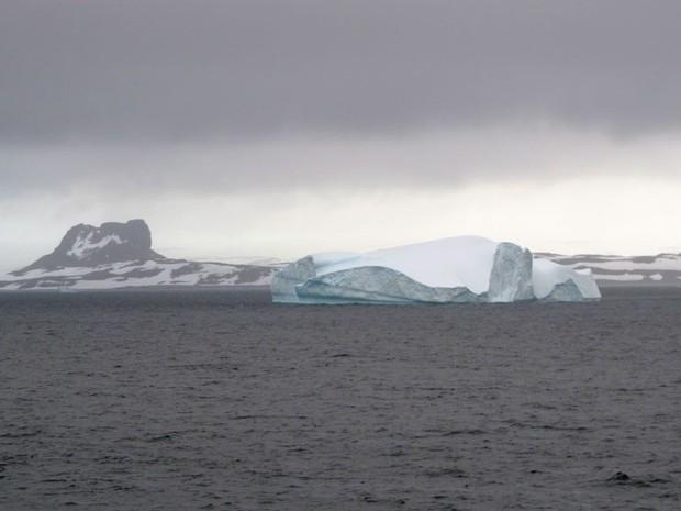 Antártica é objeto de muitos trabalhos científicos (Foto: Eduardo Carvalho/G1)