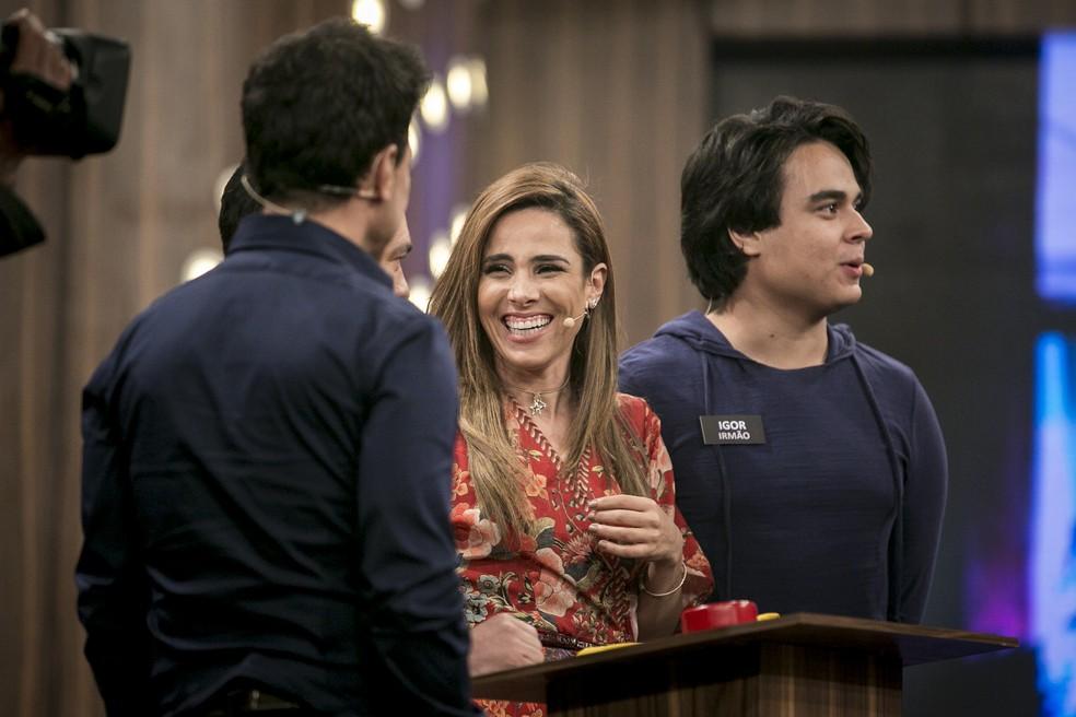 Wanessa Camargo se diverte durante gravação do 'Tamanho Família' (Foto: Isabella Pinheiro/Gshow)
