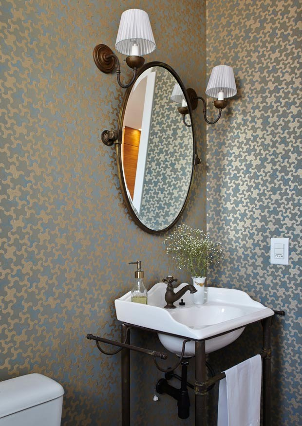 20 ideias de decora o para banheiros e lavabos casa e - Lavabos de pared ...