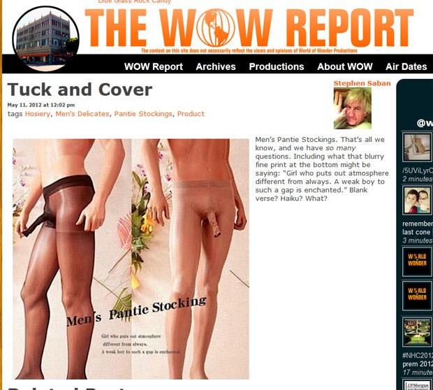 Meia-calça masculina pode ser encontrada na internet por US$ 13,5.  (Foto: Reprodução)