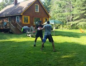 Ildemar Marajó realizou vários treinos nos EUA (Foto: Arquivo Pessoal)