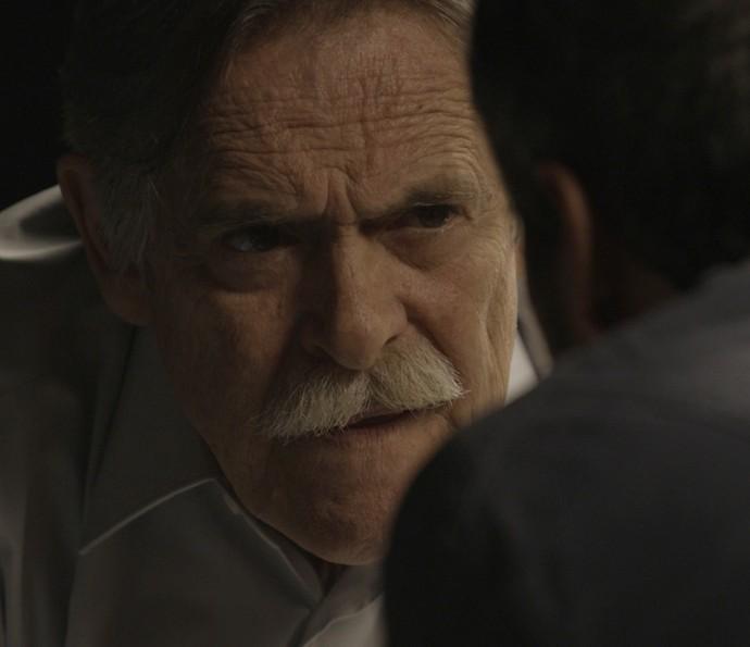 Gibson bate boca com o ex-vereador (Foto: TV Globo)