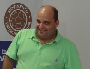 Pedrinho Tenório, diretor de futebol do CSA (Foto: Denison Roma / GloboEsporte.com)