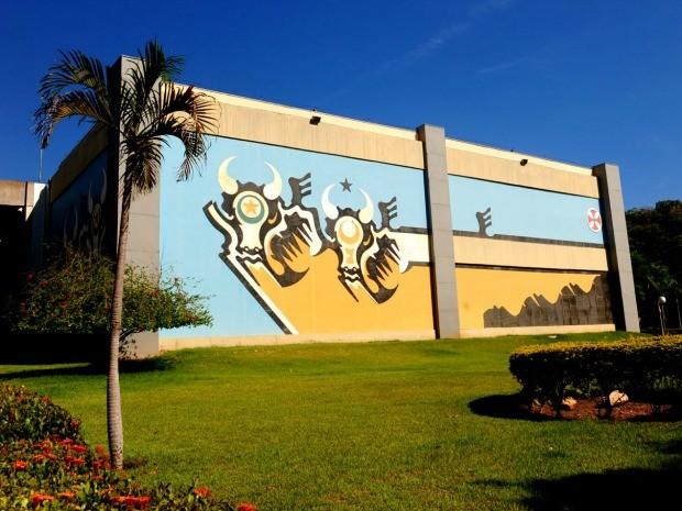 Palácio Paiaguás e mural 'Bovinocultura', em Cuiabá, foram tombados como patrimônio do estado (Foto: Marcos Vergueiro/Secom-MT)