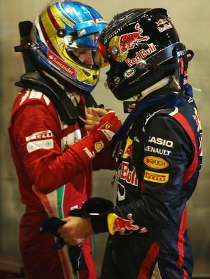 Na Índia, Alonso e Vettel travam mais um duelo particular na luta pelo tri (Foto: Getty Images)