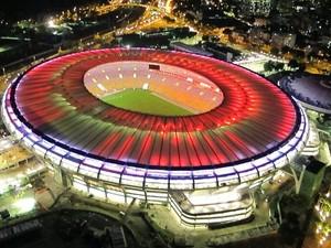 Maracanã testa iluminação nesta quinta-feira (Foto: Genílson Araújo / Agência O Globo)