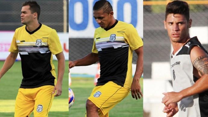 Montagem jogadores Treze (Foto: Montagem / GloboEsporte.com)