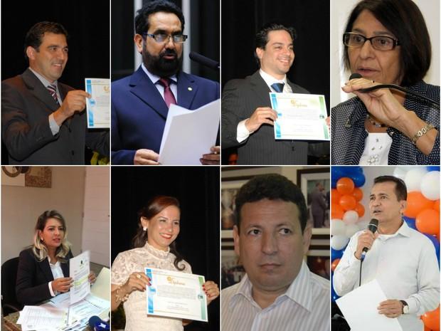 bancada amapá deputados federais amapá (Foto: Gabriel Penha; Ascom/Cabuçu; Sal Lima/Agência Amapá; Abinoan Santiago/G1; Ascom/Marcos Reategui)