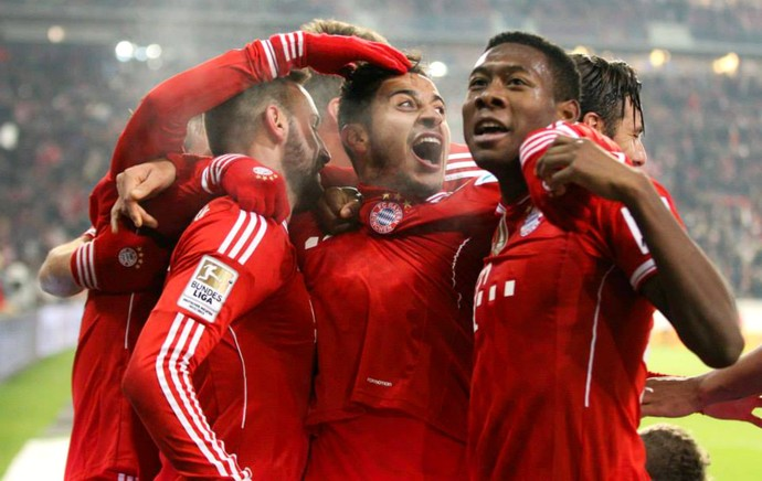 Thiago Alcântara gol Bayern Stuttgart (Foto: Reprodução / Facebook)