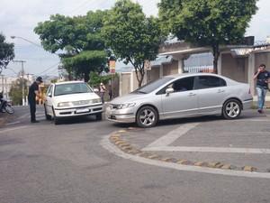 Reconstituição ocorreu nesta quarta-feira (4) em Divinópolis (Foto: Anna Lúcia Silva/G1)
