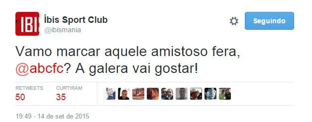 Íbis ABC twitter (Foto: Reprodução)