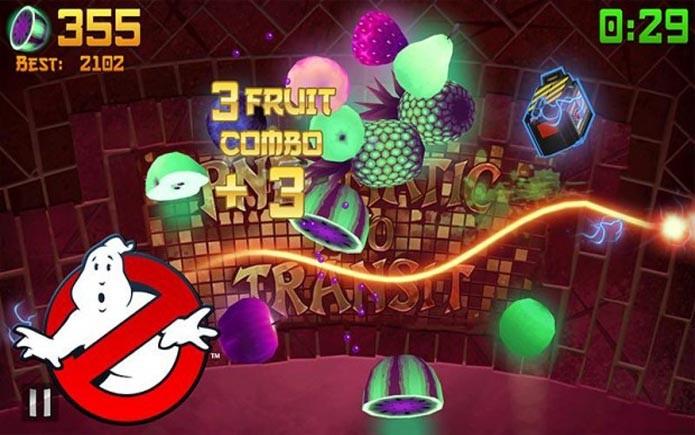 Fruit Ninja ganha atualização com tema do filme Os Caça-Fantasmas (Foto: Divulgação)