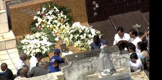 Enterro Domingos Montagner  (Foto: Reprodução/ Globo)