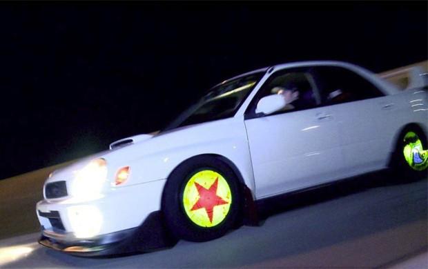 Tecnologia mostra imagens nas rodas de carro (Foto: Divulgação)