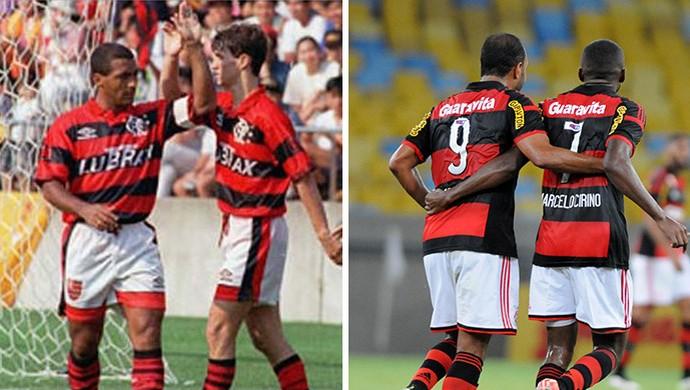 montagem Romário e Sávio, Alexsandro e Cirino, Flamengo (Foto: GloboEsporte.com)