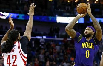 Cousins faz boa estreia, mas não evita atropelo dos Rockets sobre os Pelicans