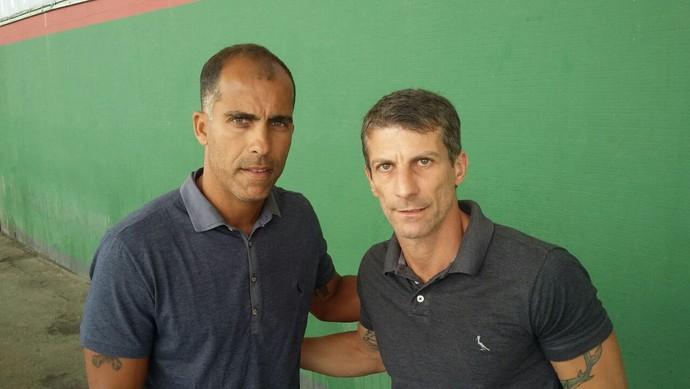Felipe e Pedrinho na final da Copa Rio (Foto: Felipe Basílio/ GloboEsporte.com)