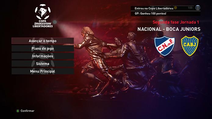 Libertadores está completa no game (Foto: Reprodução/Murilo Molina)