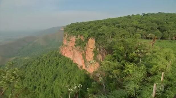 Chapada dos Guimarães (MT) revela paisagens de tirar o fôlego (Foto: Reprodução/ Jornal Hoje)