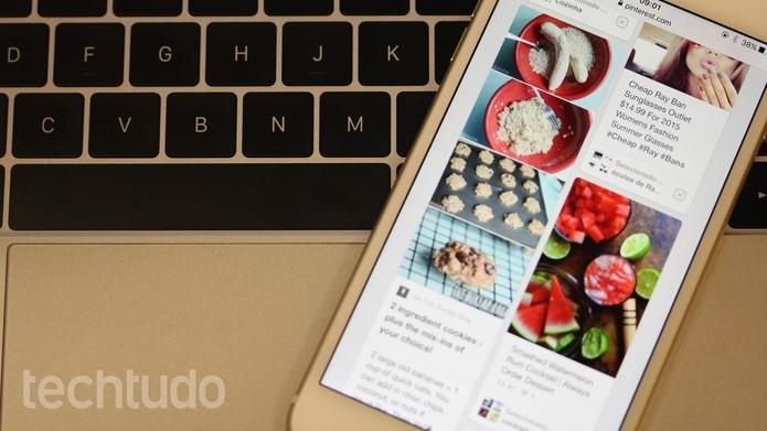 Pinterest é bastante usada por profissionais criativos em busca de inspiração (Foto: Luana Marfim/TechTudo) (Foto: Pinterest é bastante usada por profissionais criativos em busca de inspiração (Foto: Luana Marfim/TechTudo))