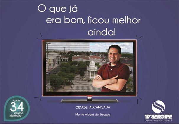 Monte Alegre recebe inauguração do sinal digital nesta sexta-feira (Foto: Arte/ TV Sergipe)