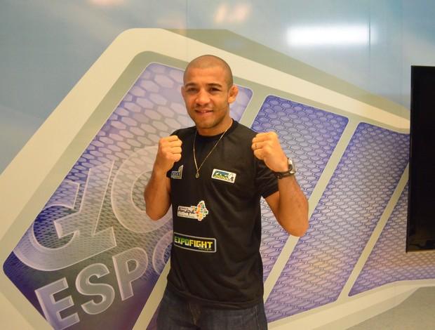 Campeão mundial do UFC, José Aldo visita pela segunda vez o Amapá (Foto: Cassio Albuquerque/GE-AP)