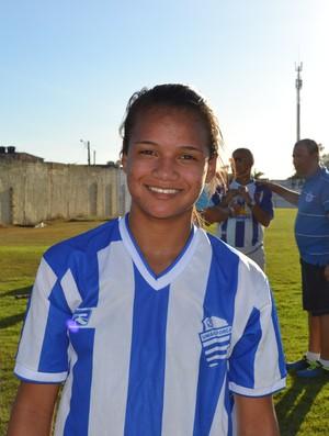Karol jogadora do CSA (Foto: Jota Rufino/GloboEsporte.com)