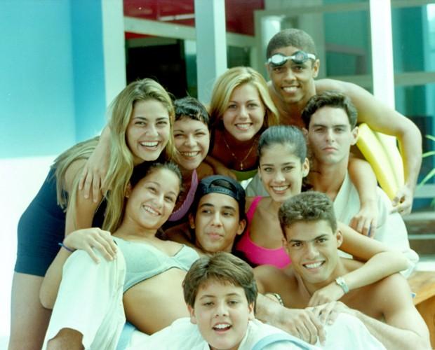 André Marques e elenco de Malhação: adolescentes  (Foto: TV Globo)