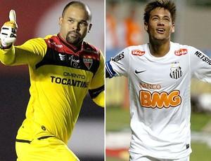 Montagem, Marcio e Neymar (Foto: Editoria de Arte / Globoesporte.com)