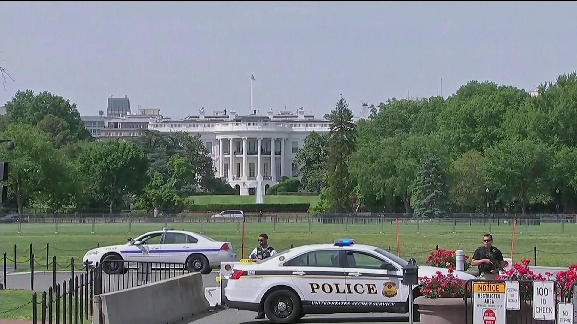 Movimentação em torno da Casa Branca (Foto: Reprodução/Globonews)
