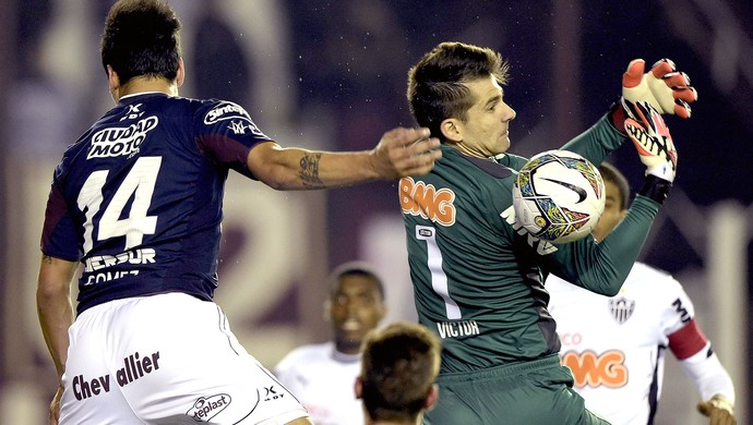 Victor no jogo Lanús x Atlético-MG Recopa (Foto: AFP)