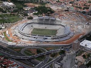 Foto aérea da Arena das Dunas, em Natal (Foto: Canindé Soares)