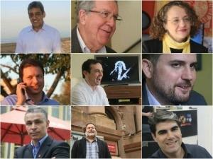 Nove candidatos disputam a Prefeitura de Porto Alegre (Foto: Montagem sobre fotos/G1)