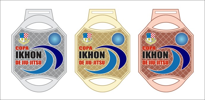 Modelo de medalhas que serão entregues para os colocados no pódio em cada categoria (Foto: imagem/Divulgação)