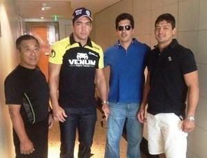 Mestre Watanabe, Lyoto, Takê e Chinzô Machida no Rio de Janeiro (Foto: Reprodução/Instagram)