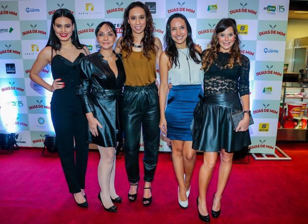 Letícia Lima, Cininha de Paula, Thalita Carauta, Maria Maya e Mylla Christie (Foto: Manuela Scarpa/Brazil News)