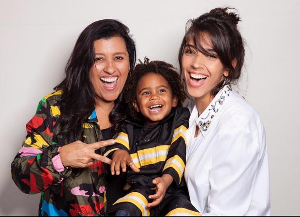 Regina Casé e os filhos (Foto: Reprodução/Instagram)