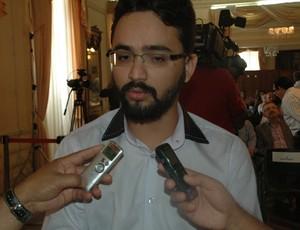 Tibério Limeira, secretário de esportes da Paraíba (Foto: Larissa Keren / GloboEsporte.com/pb)