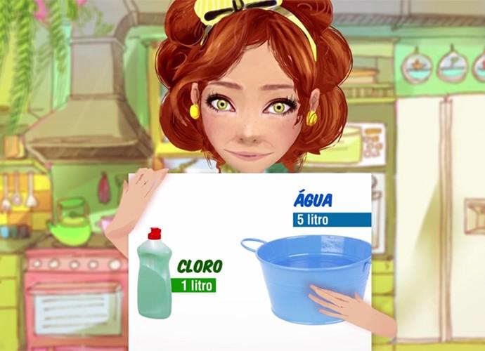 Sebastiana ajuda a economizar com o sabão (Foto: webséries/gshow)