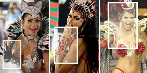 Lupa revela detalhes das musas nos desfiles (Raul Zito/G1)