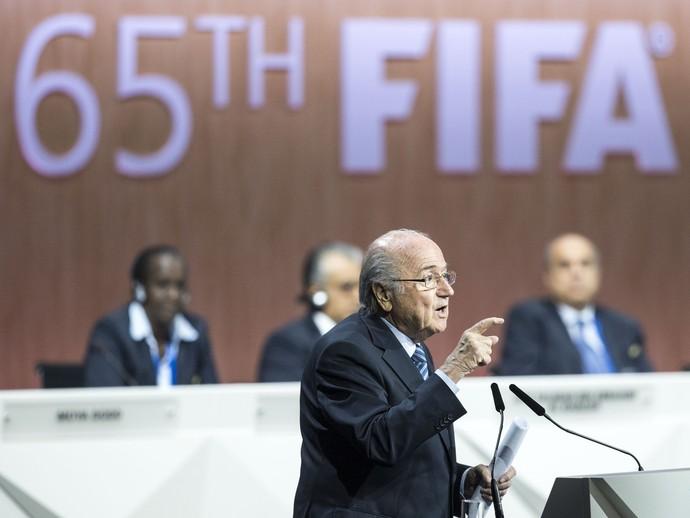 Joseph Blatter Congresso na Fifa - AP (Foto: AP)
