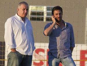 Roberto de Andrade e Duílio Alves, diretoria do Corinthians (Foto: Daniel Augusto Jr / Agência Corinthians)