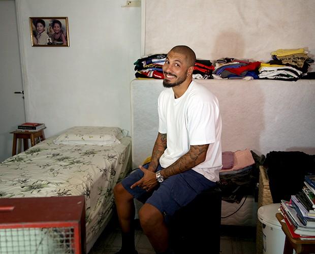 O brother mostra seu quarto (Foto: Paula Fadul/Gshow)