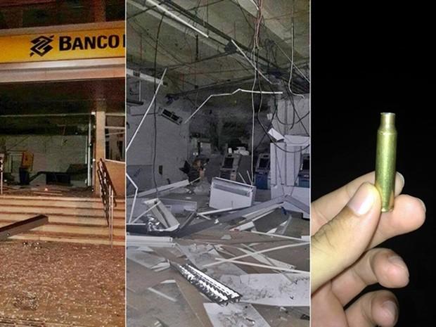 Bandidos explodiram agência bancária em Lajes  (Foto: Francisco Coelho/Focoelho.com)