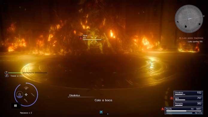 Final Fantasy XV: confira dicas para vencer o chefe Ifrit no game (Foto: Reprodução/Murilo Molina)
